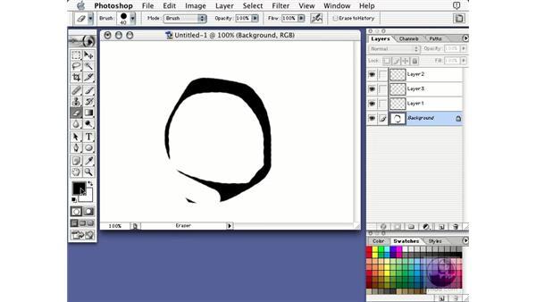 background layer: Learning Photoshop 7