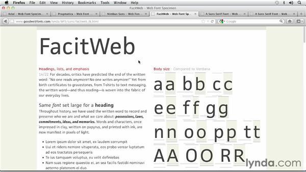 : Choosing and Using Web Fonts