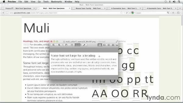 Choosing a Geometric Sans Serif font: Choosing and Using Web Fonts