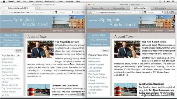 Looking at how using a Humanist Sans Serif font affects the look and feel of a web page: Choosing and Using Web Fonts