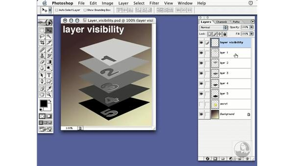 layer visibility: Learning Photoshop 7