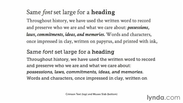 Understanding what to look for when pairing fonts: Choosing and Using Web Fonts