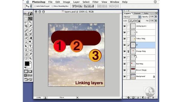 linking layers: Learning Photoshop 7
