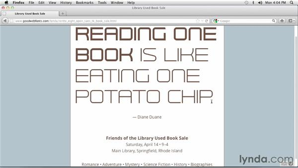 Incorporating a second font with the Futuristic display font: Choosing and Using Web Fonts