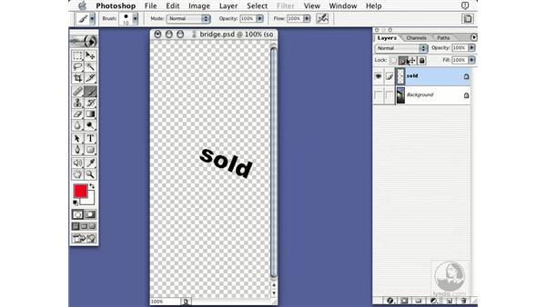 locking down layers: Learning Photoshop 7