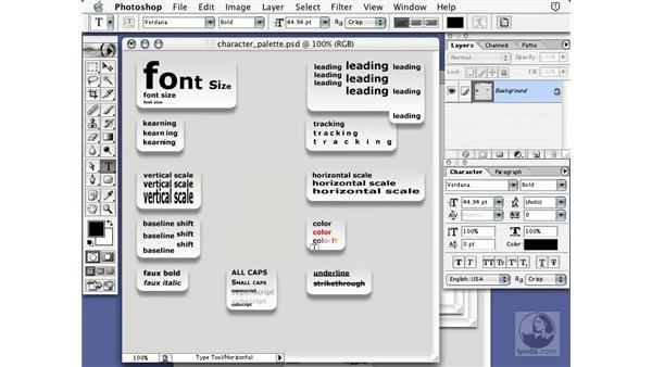 type introduction: Learning Photoshop 7