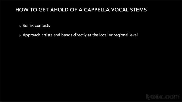 Understanding where to get a capella vocal tracks: Remixing Techniques: Time Stretching