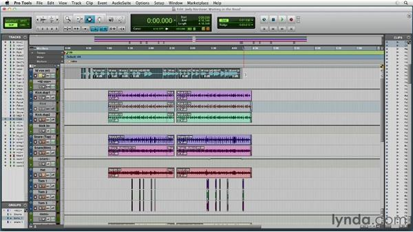 Starting from a pre-existing Pro Tools multitrack session : Remixing Techniques: Time Stretching