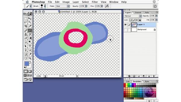 brush modes: Learning Photoshop 7