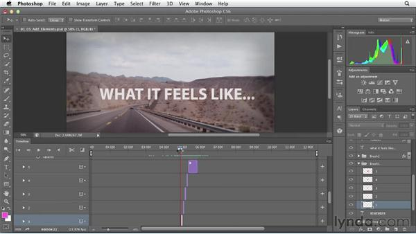 Adding text, graphics, and animation: Artistic Video with Photoshop