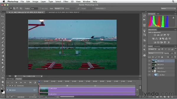 Adding and navigating clips: Artistic Video with Photoshop