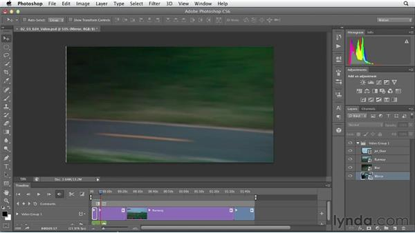 Editing multiple clips: Artistic Video with Photoshop