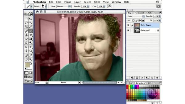 colorizing with color: Learning Photoshop 7