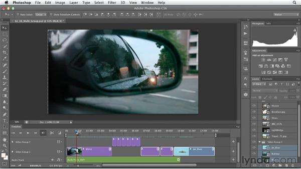 Editing with multiple video groups: Artistic Video with Photoshop