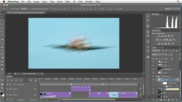 Stylizing individual clips with Smart Filters: Artistic Video with Photoshop