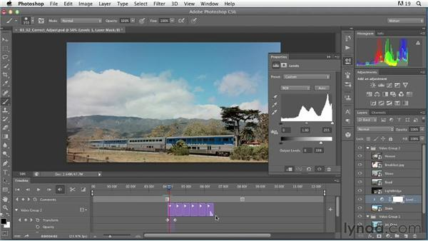 Using adjustment layers for individual clips: Artistic Video with Photoshop