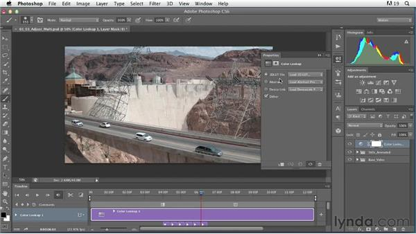 Using adjustment layers to stylize multiple video clips: Artistic Video with Photoshop