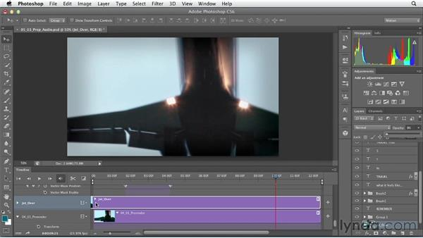 Preparing audio for export: Artistic Video with Photoshop