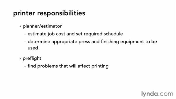 Understanding roles and responsibilities: Print Production Fundamentals