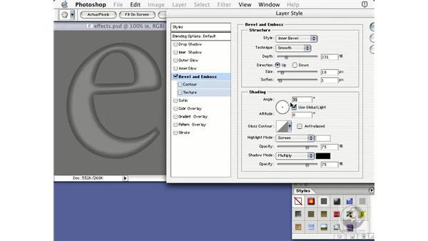 bevel and imboss: Learning Photoshop 7