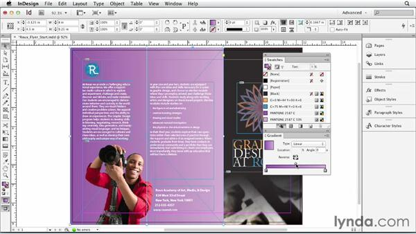 Working with color and gradient swatches: Print Production Fundamentals