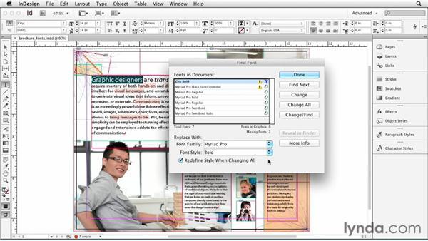 Exploring fonts in InDesign: Print Production Fundamentals