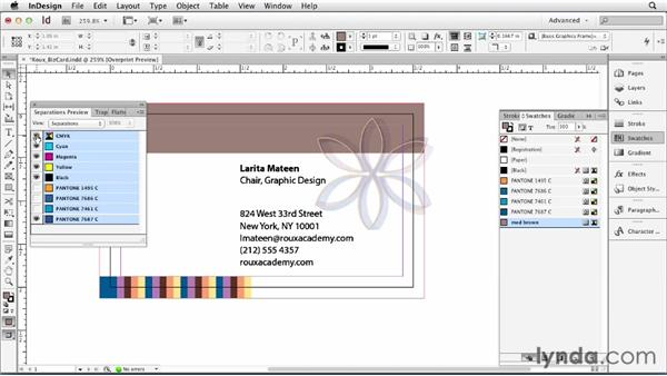 Managing swatches in InDesign : Print Production Fundamentals