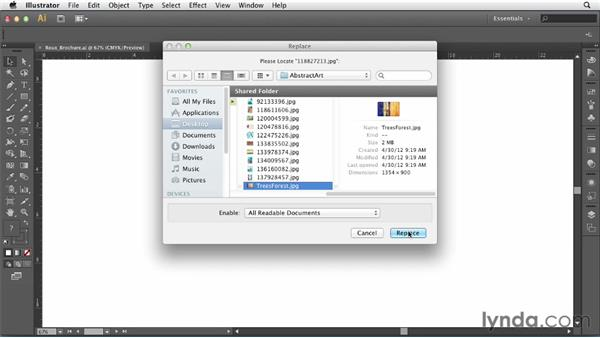Using the Links panel in Illustrator: Print Production Fundamentals