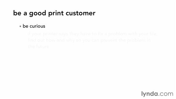 Being a good print customer: Print Production Fundamentals