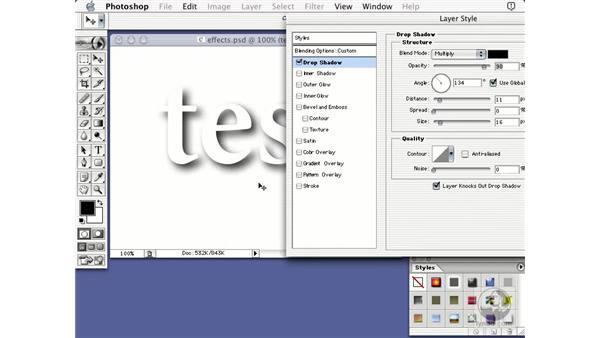 blending option: Learning Photoshop 7