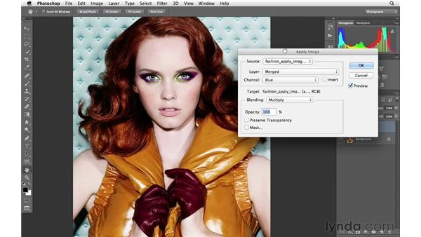 Using Apply Image to enhance color: Photoshop for Photographers: Creative Effects