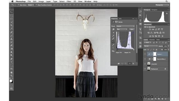 Improving the impact of color with curves and color balance: Photoshop for Photographers: Creative Effects