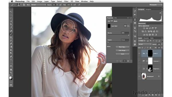 Using adjustment layers to brighten and add color: Photoshop for Photographers: Creative Effects