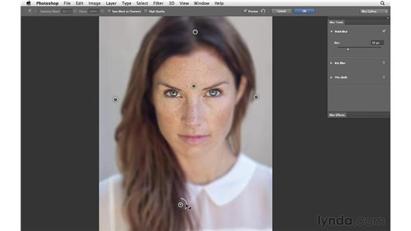 Using Field Blur in a traditional way: Photoshop for Photographers: Creative Effects