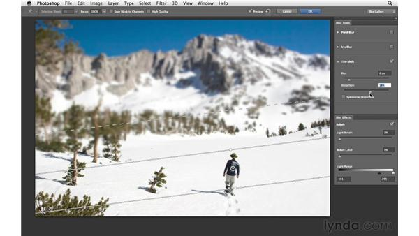 Adding Tilt-Shift Blur effects: Photoshop for Photographers: Creative Effects