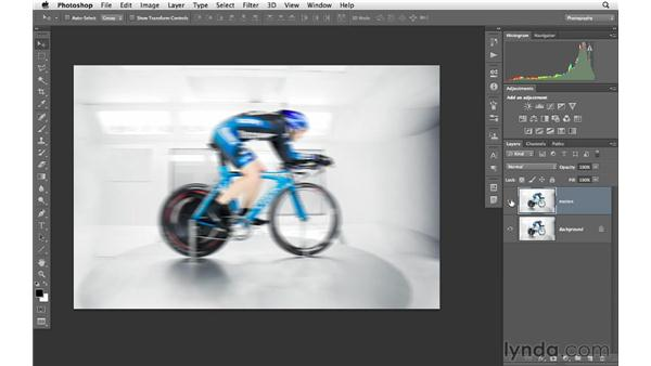 Adding pan motion to a photograph: Photoshop for Photographers: Creative Effects