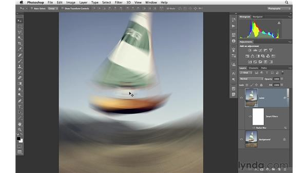 Creating a radial spin effect: Photoshop for Photographers: Creative Effects