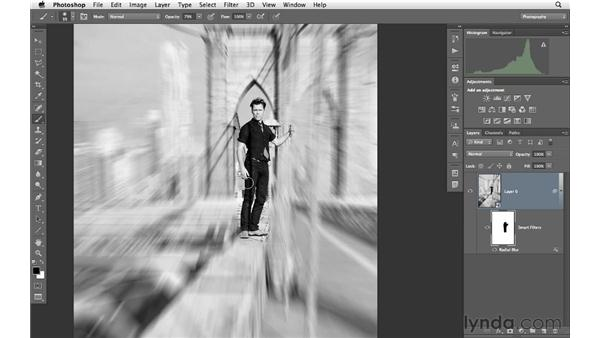 Adding a radial zoom blur: Photoshop for Photographers: Creative Effects