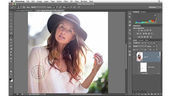 Creating a subtle and realistic lens flare: Photoshop for Photographers: Creative Effects