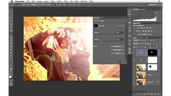 Enhancing color and tone to make the Lens Flare effect come to life: Photoshop for Photographers: Creative Effects