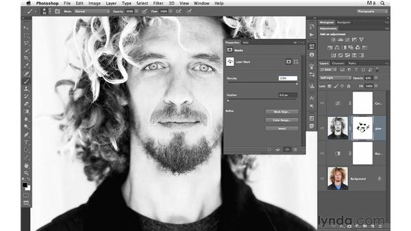 Creating infrared with contrast and sharpness: Photoshop for Photographers: Creative Effects