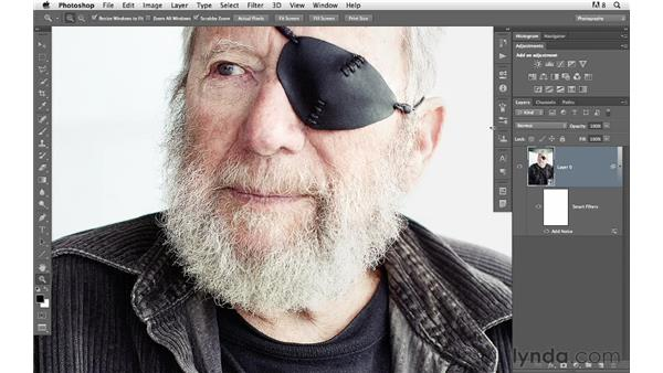 Adding grain to a Smart Object: Photoshop for Photographers: Creative Effects