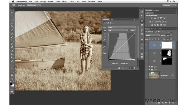 Burning and dodging a sepia-toned image: Photoshop for Photographers: Creative Effects