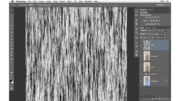 Adding film grain and more texture : Photoshop for Photographers: Creative Effects