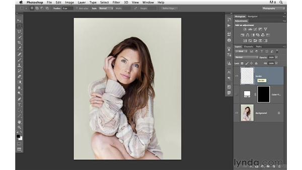 Adding a prebuilt edge: Photoshop for Photographers: Creative Effects