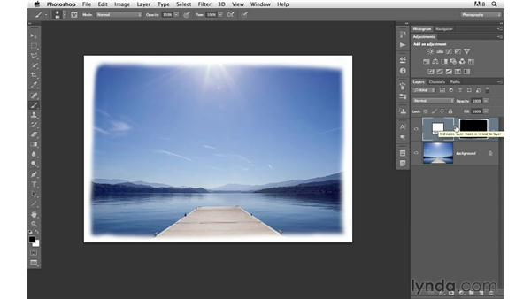 Hand-painting a border or edge: Photoshop for Photographers: Creative Effects