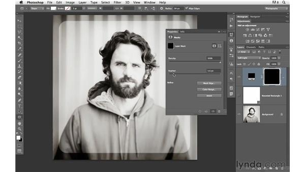 Adding borders using custom shapes: Photoshop for Photographers: Creative Effects