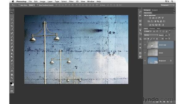 Building a creative effect with blending and adjustments: Photoshop for Photographers: Creative Effects