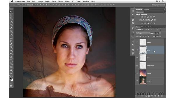 Blending images and graphics together to add visual interest: Photoshop for Photographers: Creative Effects