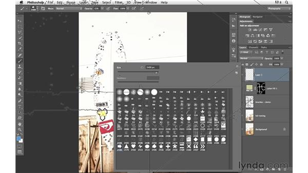 Using and modifying custom brushes: Photoshop for Photographers: Creative Effects